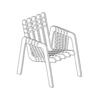 家具 简笔画 手绘 线稿 椅 椅子 300_300